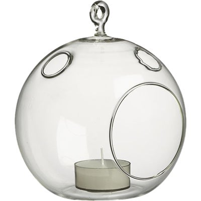Shop 6 Pack 5 Inch Clear Glass Round Hanging Terrarium Vase Free