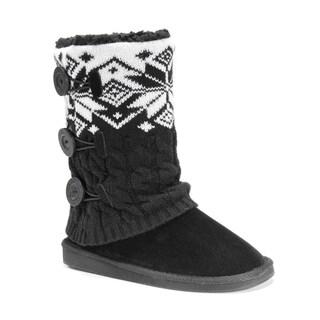 Muk Luks Women's Polyester/ Acrylic Cheryl Boots