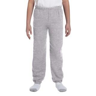 Gildan Boys' Grey Cotton-blend Sport Sweatpants