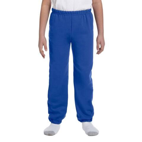Gildan Boys' Royal Blue Polyester/Cotton Heavy Blend Sweatpants