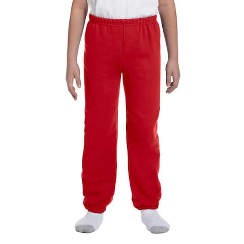 Gildan Boy's Red Heavy Cotton-blend Sweatpants
