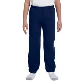 Heavy Blend Boy's Navy Cotton and Polyester Sweatpants|https://ak1.ostkcdn.com/images/products/12180169/P19030538.jpg?impolicy=medium