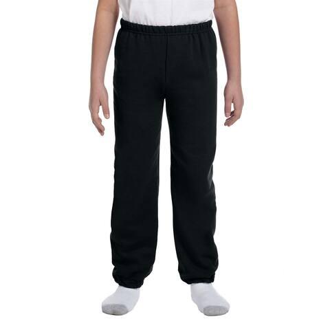 Boy's Black Heavy Blend Sweatpants