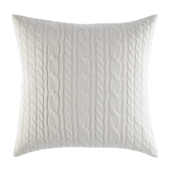 Laura Ashley Ivory Cable Knit Decorative Pillow