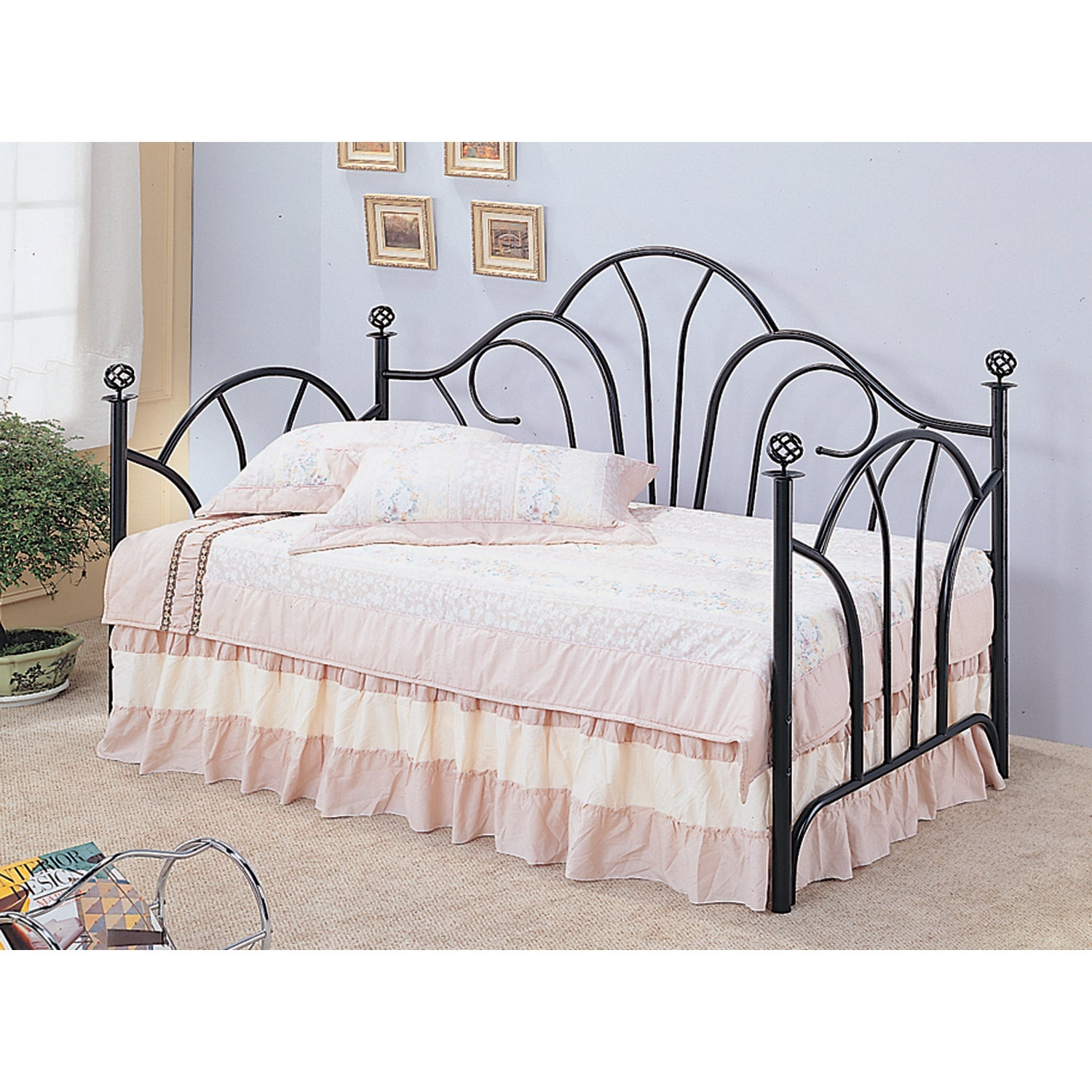 Coaster Furniture Black Metal Twin Daybed (Daybed)