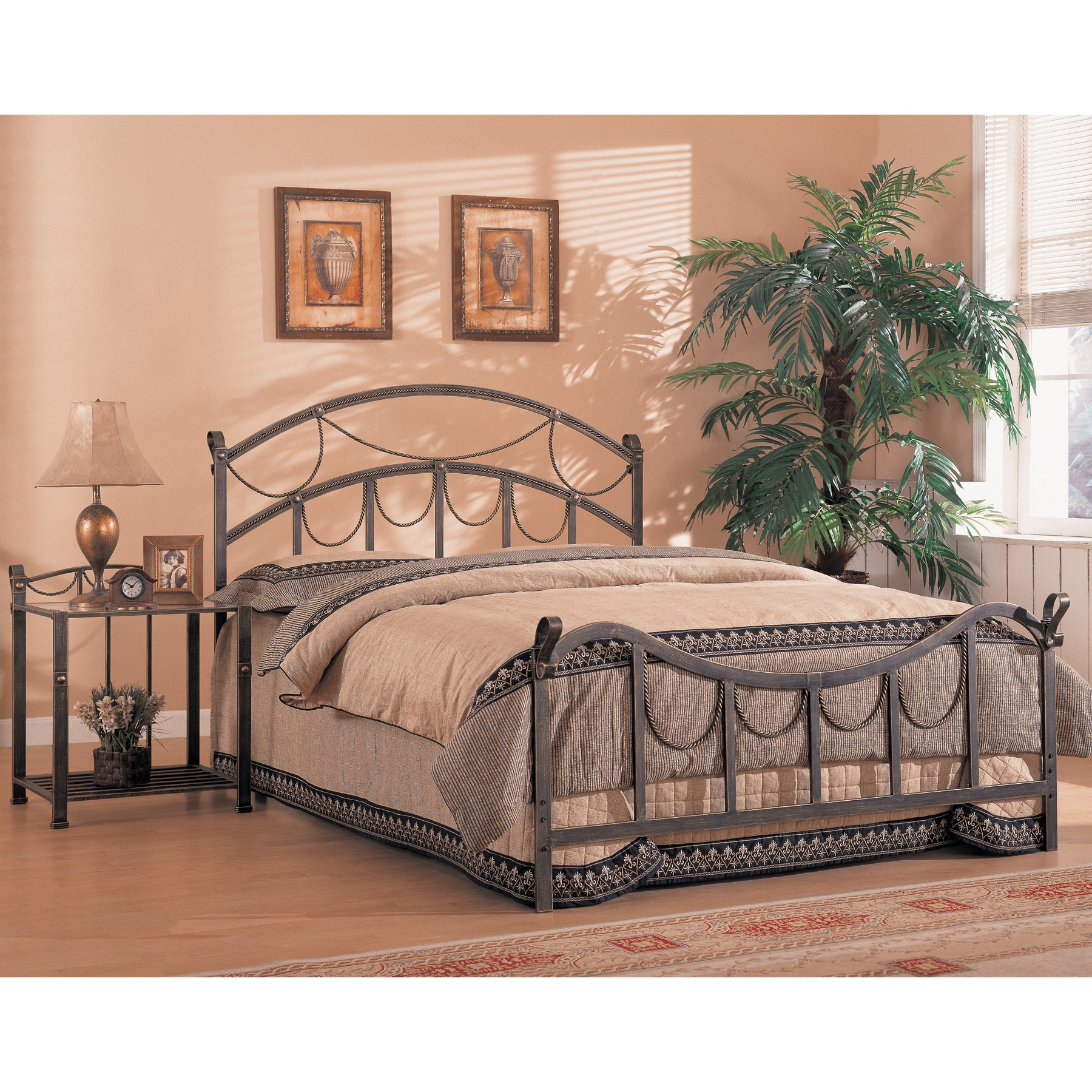 Picture of: Coaster Company Antique Brass Queen Bed Overstock 12180187