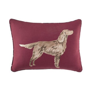 Laura Ashley Ella Embroidered Dog Decorative Pillow