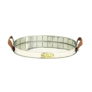 Stainless Steel PU Leather Serving Tray