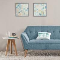 Intelligent Design Gemstone Tiles Blue Framed Deco 2-piece Box Set with Gel Coat Finish