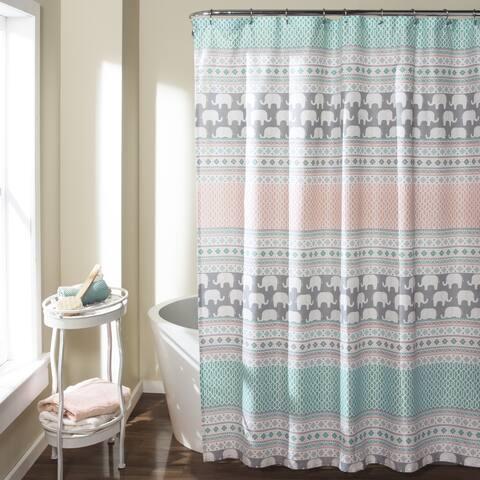 Taylor & Olive Harriman Elephant Stripe Shower Curtain