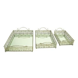 Metal Mir Serving Tray (Set of 3)