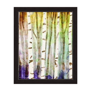 Rainbow Thicket Amethyst Framed Graphic Art