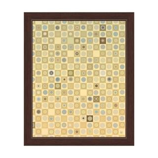 'The Circular Tiles' Framed Yellow Graphic Print Wall Art