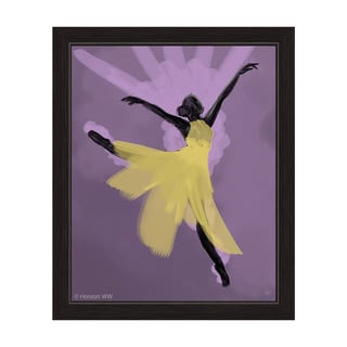 """Delicate Dancer"" Graphic Framed Art Print"