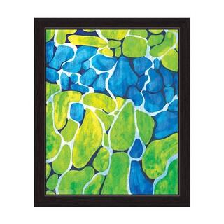 'Mossy Cobblestone' Framed Graphic Print Wall Art