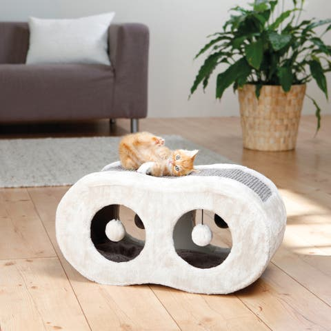 TRIXIE Liana Fleece-lined Scratcher Cat Condo