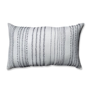 Pillow Perfect Tribal Stitches Cream-grey Rectangular Throw Pillow