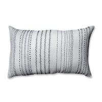 Pillow Perfect Tribal Stitches Cream-grey Rectangular Throw Pillow