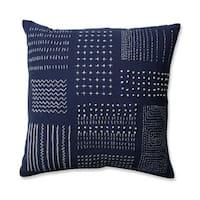 Pillow Perfect Tribal Sampler Navy-White 16.5-inch Throw Pillow