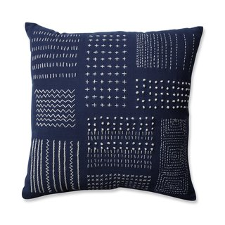 Pillow Perfect Tribal Sampler Navy-White 16.5-inch Throw Pillow