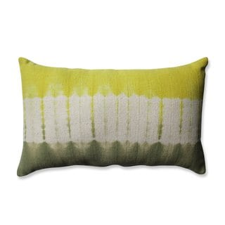 Pillow Perfect Shibori Bands Apple-Olive Rectangular Throw Pillow