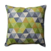 Pillow Perfect Triangle Grid Green-Grey 16.5-inch Throw Pillow