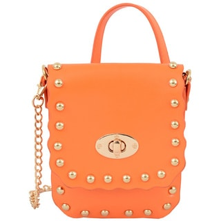 Mellow World Pandora Faux Leather Orange Crossbody