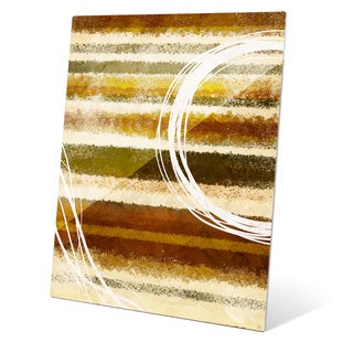 """Ground Terrain"" Graphic Glass Art Print"