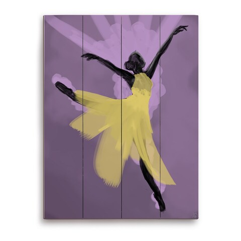 Delicate Dancer Graphic on Wood