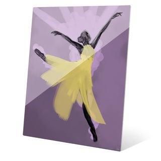 """Delicate Dancer"" Graphic Glass Art Print"