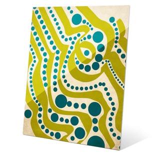 Waves and Seaweed Graphic on Acrylic