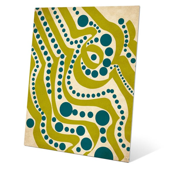 Shop Waves and Seaweed Graphic on Metal Wall Art - On Sale - Free ...
