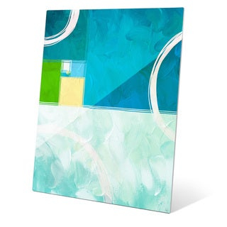 Divided Ratio Aquamarine Graphic on Glass