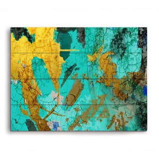 'Map of the Ocean' Graphic Print on Wood Wall Art