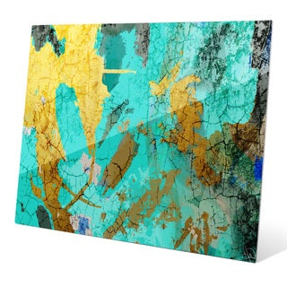 """Map of the Ocean"" Graphic Glass Art Print"