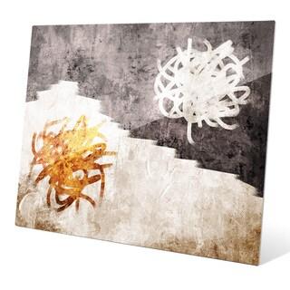 'Diametric Apricot' Graphic On Glass Wall Art