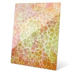 Nonagon Flower Dandelion Graphic on Glass