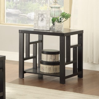Coaster Company Cappuccino Window Pane End Table