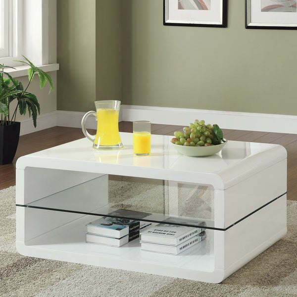 Overstock White Coffee Table.Coaster Company White Coffee Table