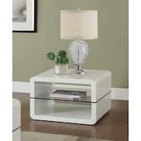 Coaster Company Modern White End Table