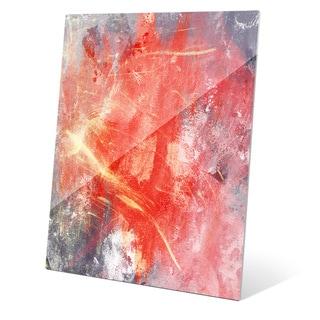 Urban Splash - Red Graphic on Acrylic