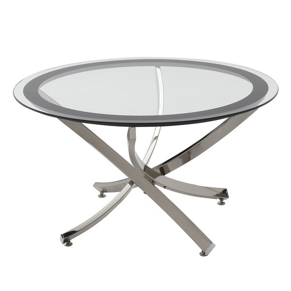 Shop Coaster Company Round Glass And Chrome Coffee Table