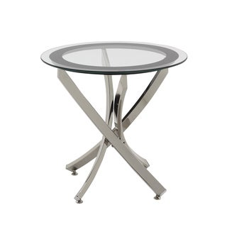 Coaster Company Chrome Glass End Table