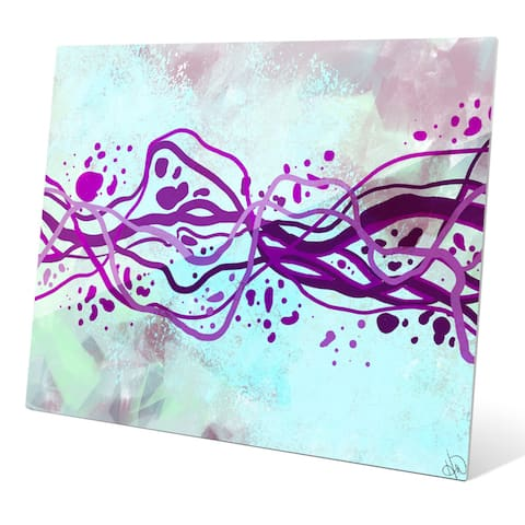 """Crystal Amethyst Current"" Graphic Acrylic Art Print"