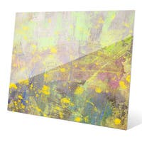 """Blossoming Spring"" Graphic Glass Art Print"