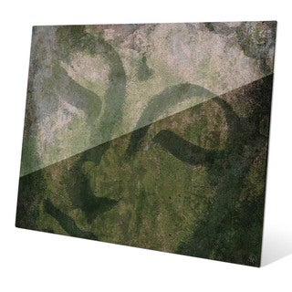 Weathered Buddha Moss Graphic on Acrylic Wall Art