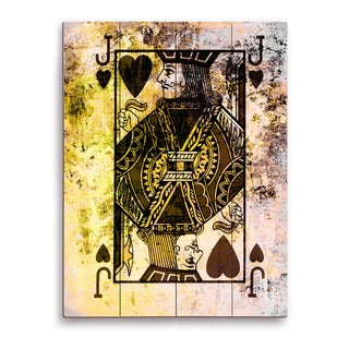 The Jack of Hearts Graphic on Wood Wall Art