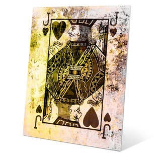 'The Jack of Hearts' Graphic Print on Glass Wall Art