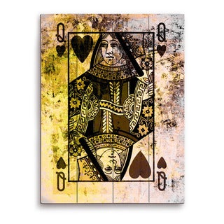"""""""The Queen of Hearts"""" Graphic on Wood"""