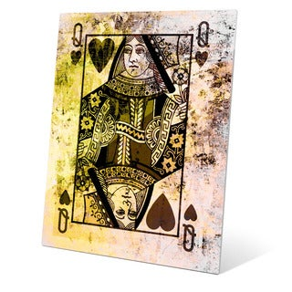 The Queen of Hearts Graphic on Glass